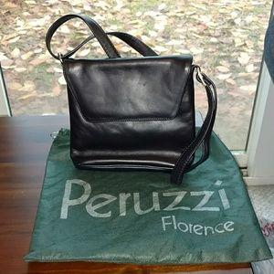 Peruzzi Black Leather Pocketbook | Small